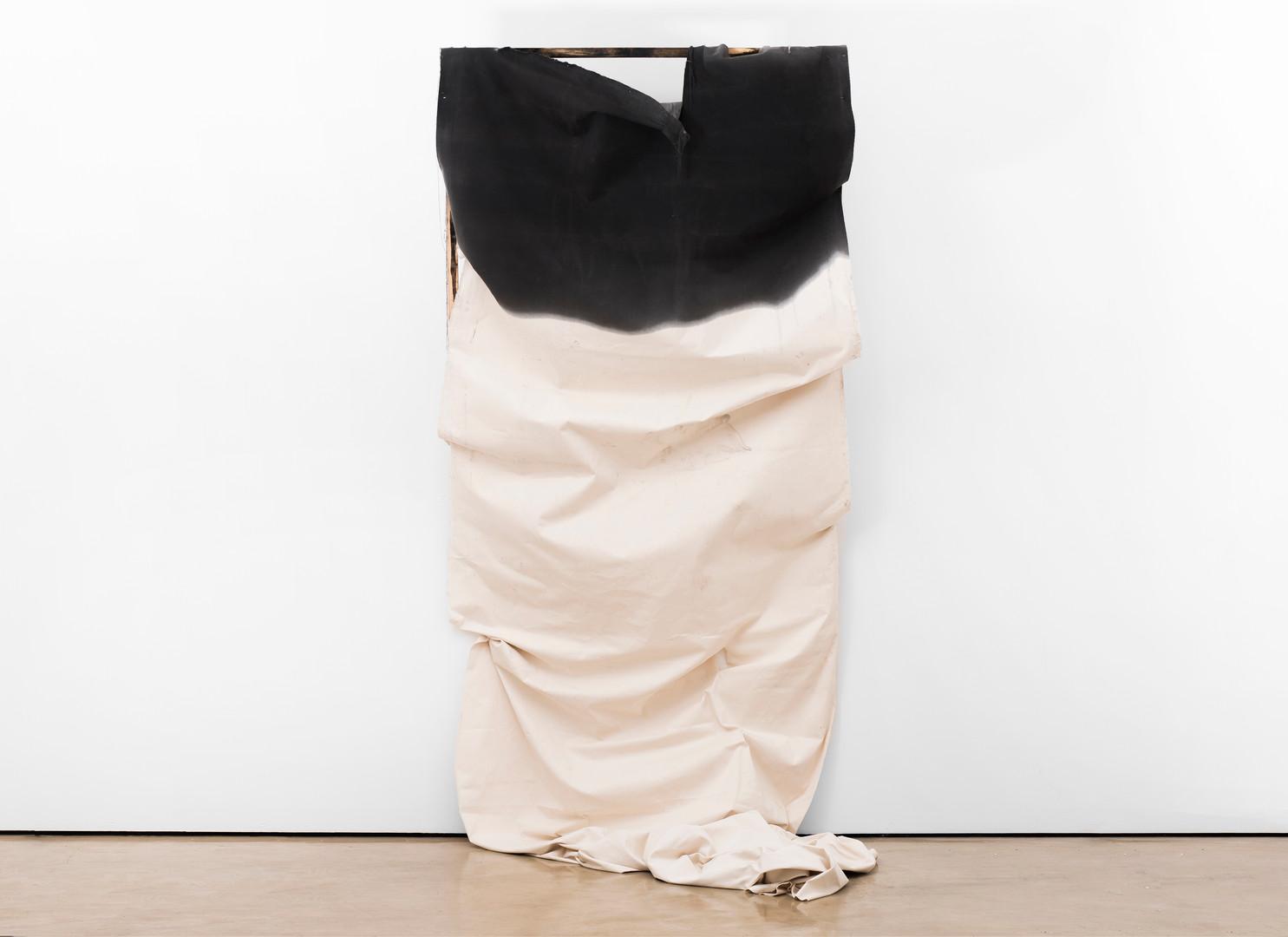 Alexandra Karakashian   Adrift (Collapse)   2017   Oil, Canvas and Wood   300 x 140 x 50 cm
