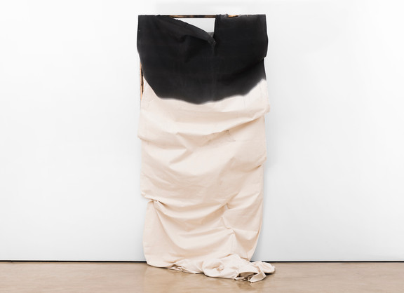 Alexandra Karakashian | Adrift (Collapse) | 2017 | Oil, Canvas and Wood | 300 x 140 x 50 cm