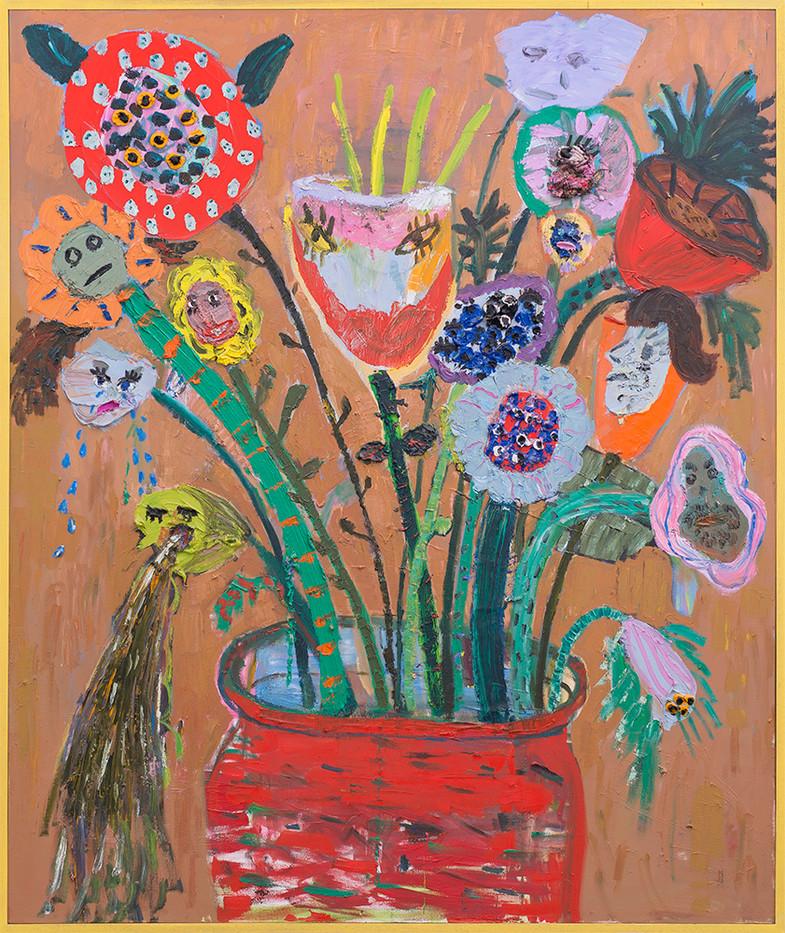 Georgina Gratrix | The Garden Party | 2017 | Oil on Canvas | 200 x 170 cm