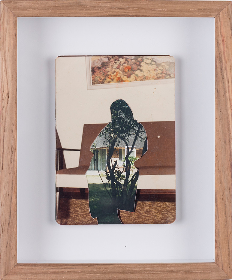 Sitaara Stodel | Fully Furnished | 2018 | Collage with Found Photographs | 12 x 9 cm