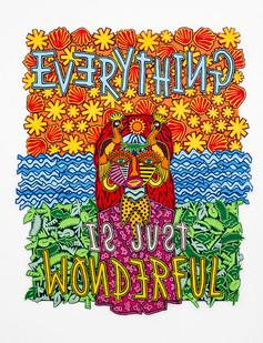 Jody Paulsen | Everything is wonderful | 2018 | Felt Collage | 194 x 148 cm