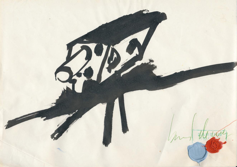 Barend De Wet | Camera | c. 1990 | Ink on Paper | 21 x 29.5 cm