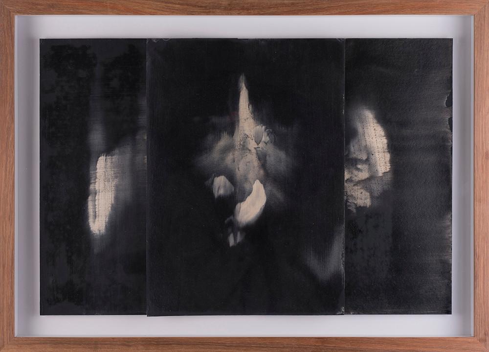 Alexandra Karakashian | Undying (beneath) Study I | 2017 | Oil on Sized Paper | 22.5 x 31.5 cm Each