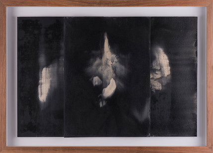 Alexandra Karakashian   Undying (beneath) Study I   2017   Oil on Sized Paper   22.5 x 31.5 cm Each