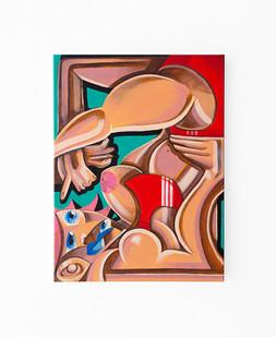 Callan Grecia | WORKOUT  | 2021 | Acrylic on Canvas | 61 x 45.5 cm