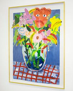 Georgina Gratrix | Jumping Jack Flash | 2016 | Oil on Paper | 188 x 128 cm
