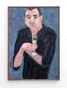 Georgina Gratrix | Ed with Bubbles | 2018 | Oil on Canvas | 100 x 70 cm