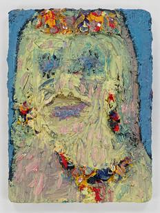 Georgina Gratrix | Sandy Bay Woman | 2015 | Oil on Board | 40.5 x 30.5 cm