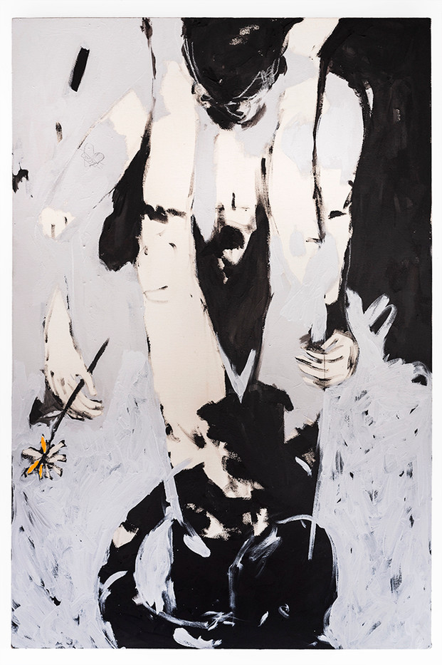 Brett Seiler | Lovers (My Favorite Tattoo) | 2019 | Paint on Canvas | 149.5 x 100 cm