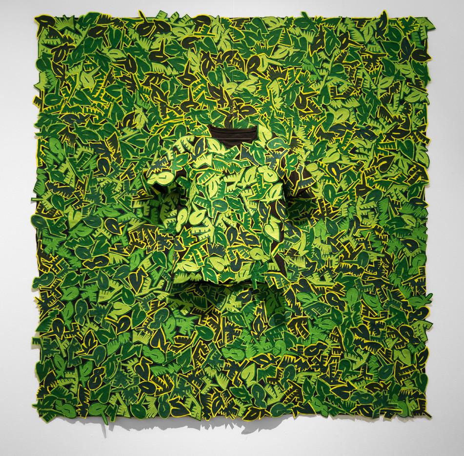 Jody Paulsen | The Cruiser (Jungle) | 2017 | Felt Collage | 185 x 182 cm