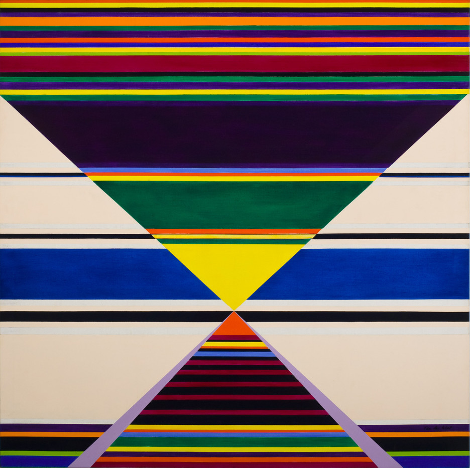 Hannatjie van der Wat   Modular Horizontals   1977   Oil on Canvas   122 x 122 cm