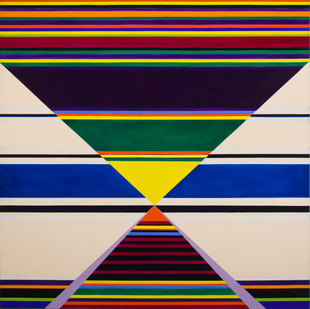 Hannatjie van der Wat | Modular Horizontals | 1977 | Oil on Canvas | 122 x 122 cm