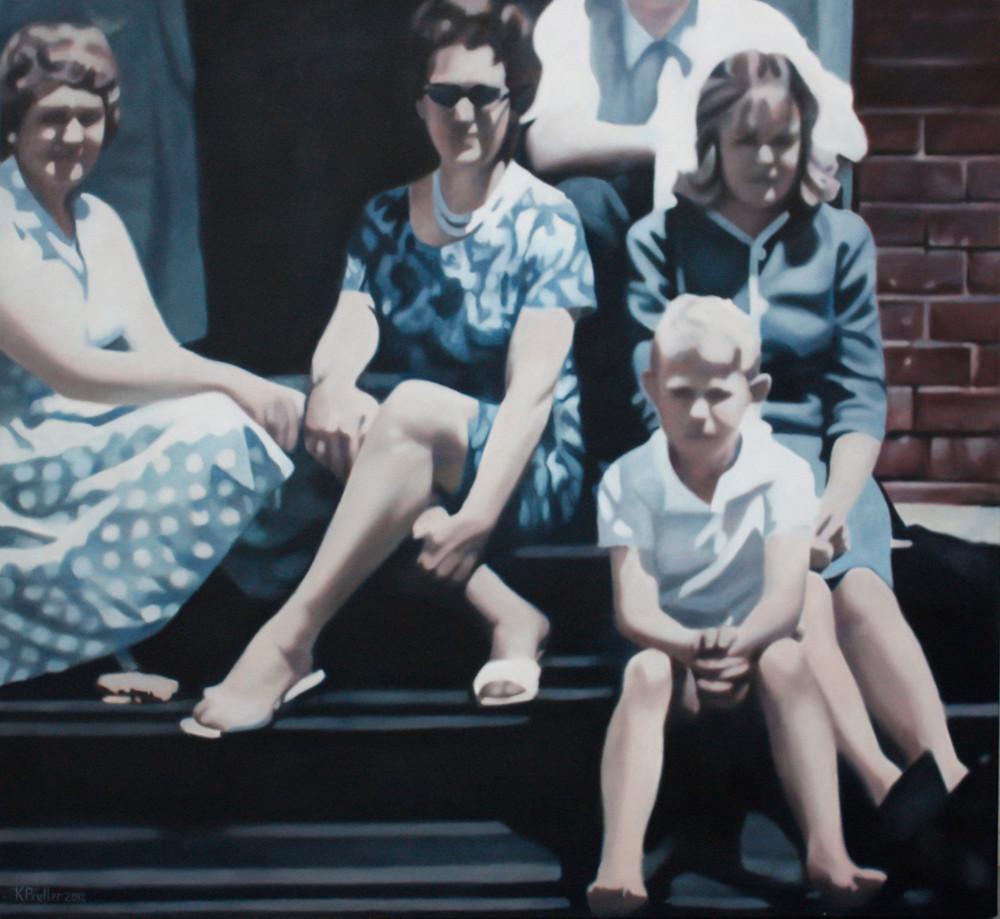 Karin Preller   Family   2012   Oil on Canvas   120 x 130 cm