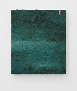Jake Aikman | Navigate (Green) | 2017 | Oil on Board | 35 x 30 cm