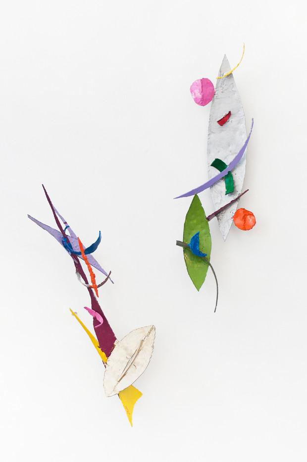 Barend de Wet | Object made to look like Art XIII & Object made to look like Art XIV | 2012 | Enamel Paint on Steel | 92 x 29 x 20 cm