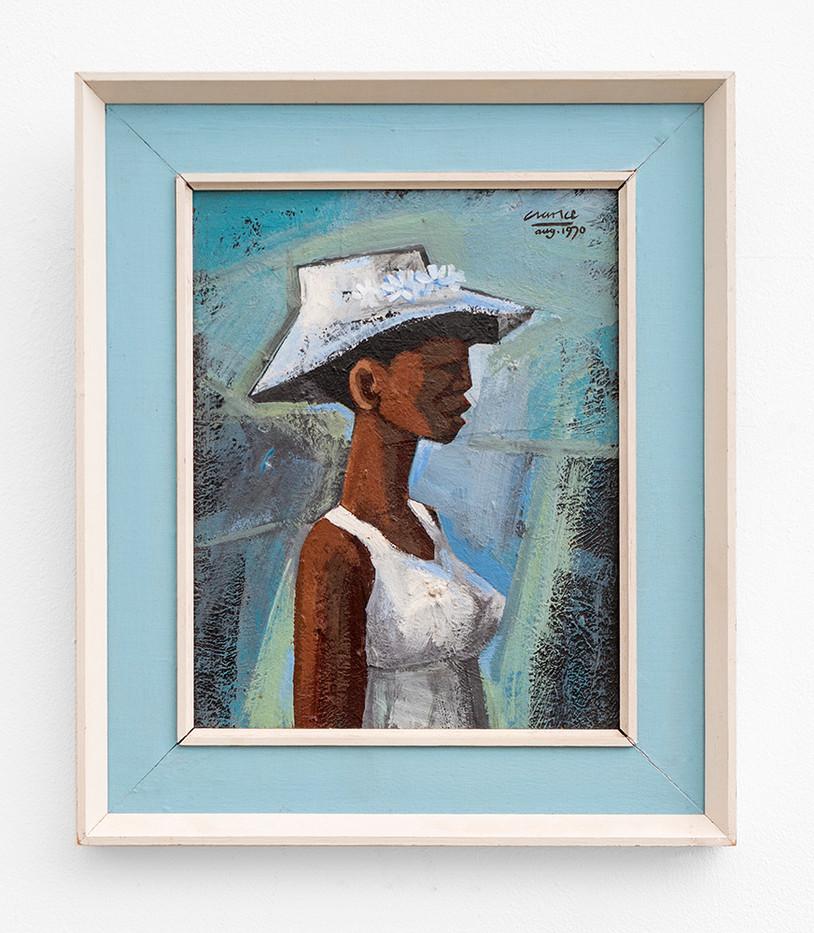 Peter Clarke | The Bridesmaid | 1970 | Acrylic on Board | 25 x 19.6 cm