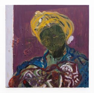 Mostaff Muchawaya | Magumbu Mana | 2019 | Acrylic on Canvas | 89 x 88 cm