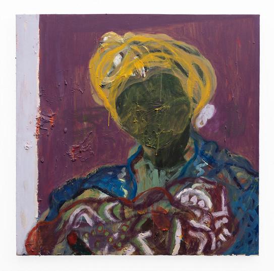Mostaff Muchawaya   Magumbu Mana   2019   Acrylic on Canvas   89 x 88 cm