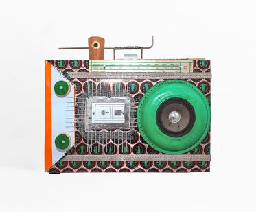 Cyrus Kabiru | Grade One | 2020 | Steel and Found Objects | 42 x 45 x 25 cm