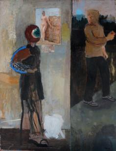Simon Stone | The Garage | 2012 | Oil on Board | 100 x 78 cm