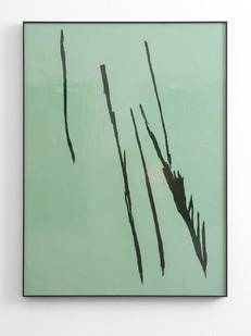 Peter Eastman | Small Shadow V | 2016 | Enamel on Aluminium | 98 x 73 cm