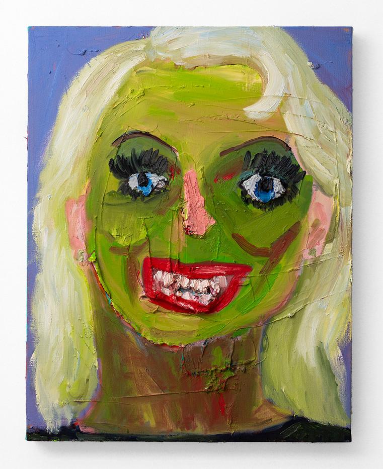 Georgina Gratrix | The Blonde | 2020 | Oil on Canvas | 70 x 55 cm