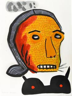 Karlien De Villiers | Bekkige Meidjie | 2014 | Ink, Collage and Watercolour on Paper | 38.5 x 29 cm