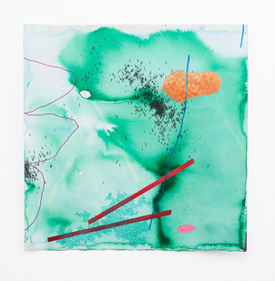 Mongezi Ncaphayi   Harmony In Defence II   2018   Indian Ink, Watercolour and Acrylic on Cotton Paper   70 x 70 cm