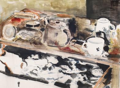 Uwe Wittwer | Stilleben (Still Life) | 2012 | Watercolour on Paper | 57 x 76 cm