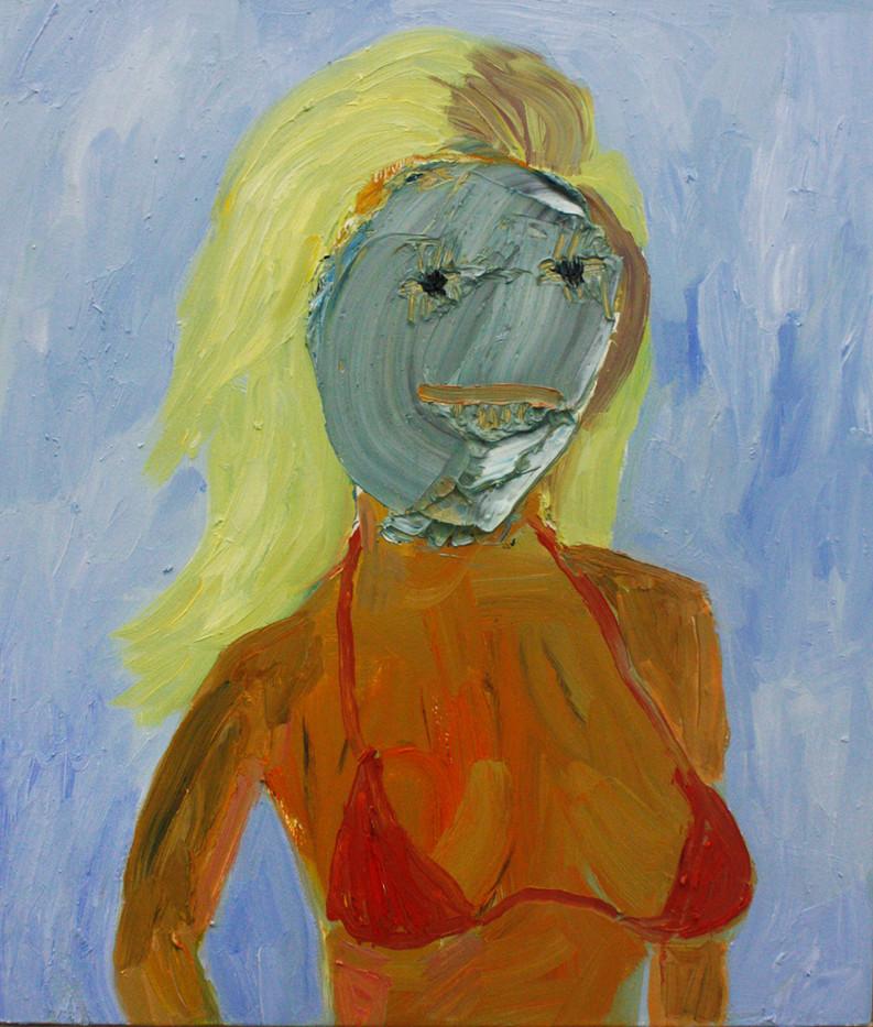 Georgina Gratrix | That Girl | 2014 | Oil on Board | 60 x 50 cm