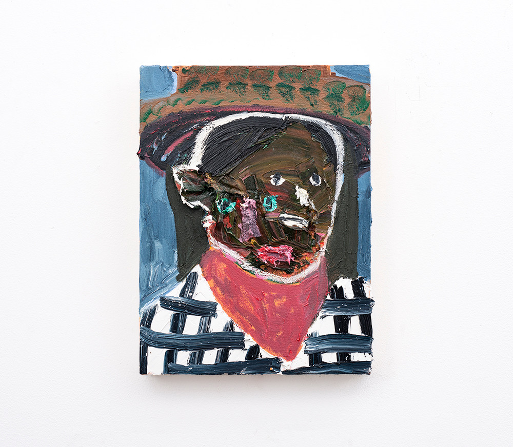 Georgina Gratrix | An Enterprising Woman | 2018 | Oil on Canvas | 40 x 30 cm