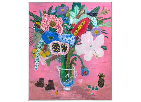 Georgina Gratrixn | Valley Road Flowers | 2019 | Oil on Canvas | 190 x 160 cm
