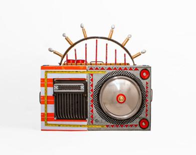 Cyrus Kabiru | Back to School | 2020 | Steel and Found Objects | 85 x 85 x 40 cm