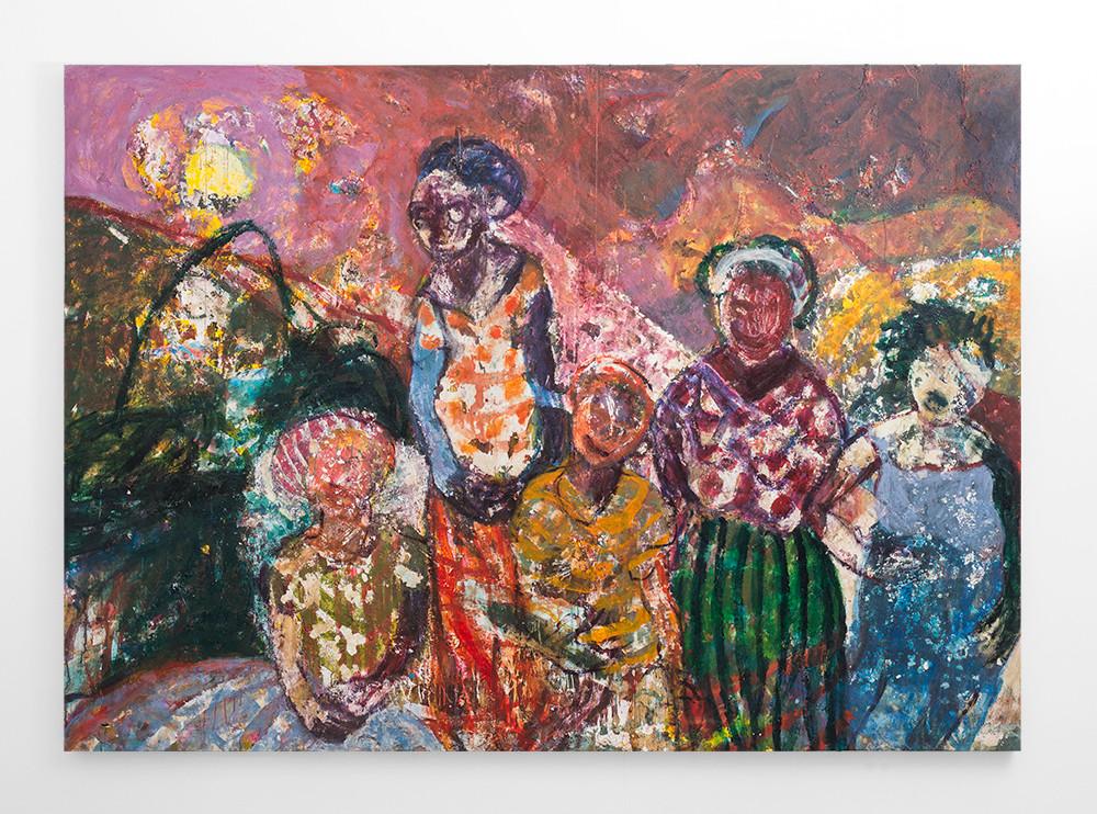 Mostaff Muchawaya   Nemako Nde Ambuya Muchawaya   2018   Acrylic on Canvas   186 x 260 cm