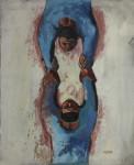 Peter Clarke | Acrobats | 1958 | Mixed Media on Paper | 48.5 x 38.5 cm