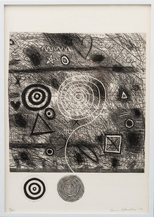 Kevin Atkinson | Listen | 1977 | Etching and Embossing | 72.5 x 52.5 cm