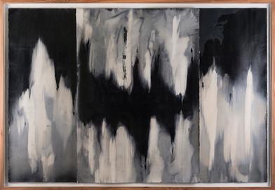 Alexandra Karakashian | Achromatic (beneath) I | 2017 | Oil on Sized Paper | 100 x 70 cm each