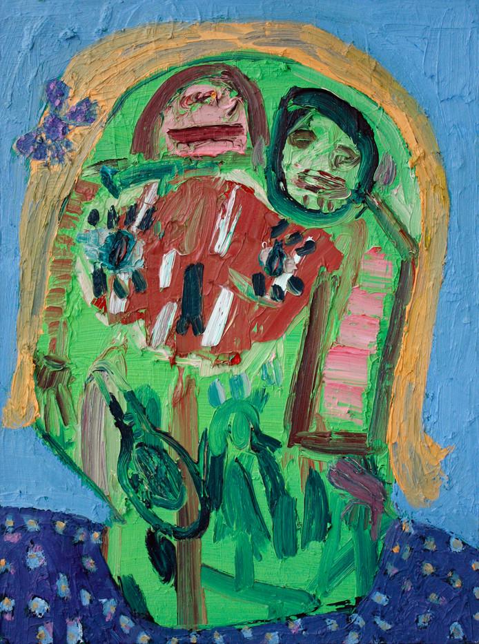 Georgina Gratrix   Green Face   2012   Oil on Canvas   80 x 60 cm
