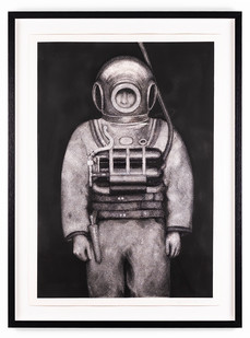 Ernst van der Wal | Untitled | 2019 | Indian Ink and Charcoal Dust on Fabriano Paper | 85.5 x 60.5 cm