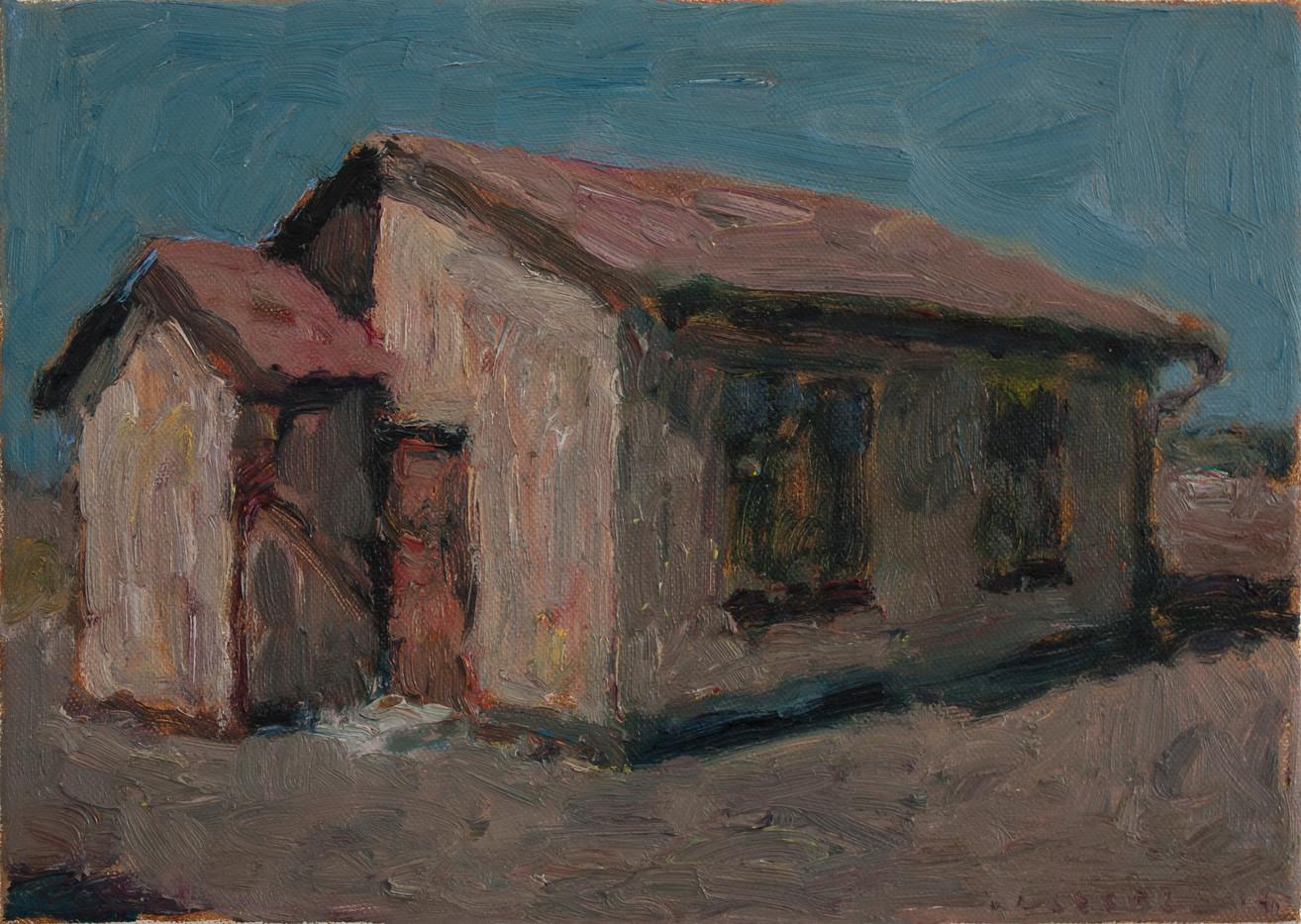 Anton Karstel | Property (Guguletu) | 2014 | Oil on Canvas | 25.5 x 35.5 cm