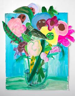 Georgina Gratrix | Baby Bloomers | 2016 | Oil on Paper | 86 x 75 cm