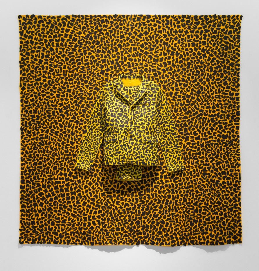 Jody Paulsen | The Singleton Years (Yellow) | 2016 | Felt Collage | 187 x 171 cm