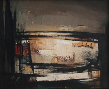 Wim Blom | Extensive landscape | c. 1955 | Oil on Board | 65 x 80.5 cm