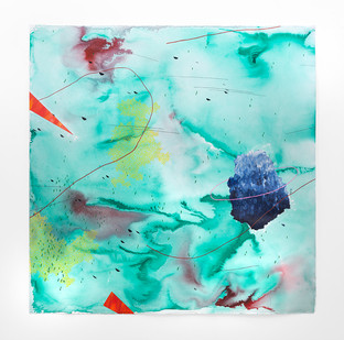 Mongezi Ncaphayi | Boundless flow II | 2019 | Indian Ink and Watercolour on Cotton Paper | 130 x 128.5 cm
