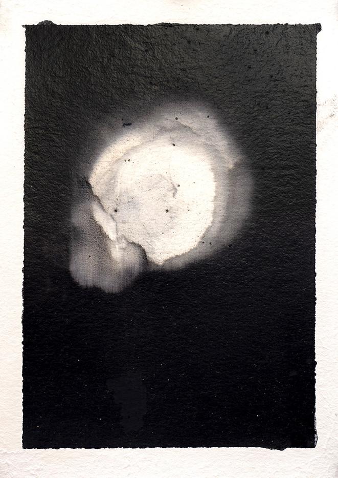 Alexandra Karakashian | Achromatic II | 2017 | Oil on Sized Paper | 23.5 x 17 cm