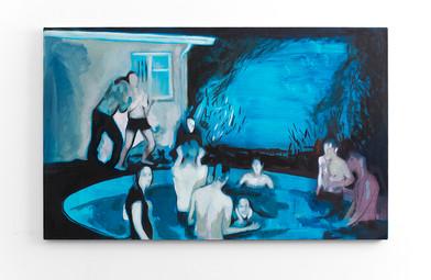 Kate Gottgens | Panic | 2016 | Oil on Canvas | 80 x 130 cm