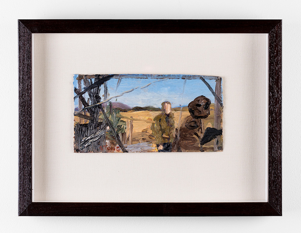 Simon Stone | The Visit | 2017 | Oil on Cardboard | 11 x 23 cm