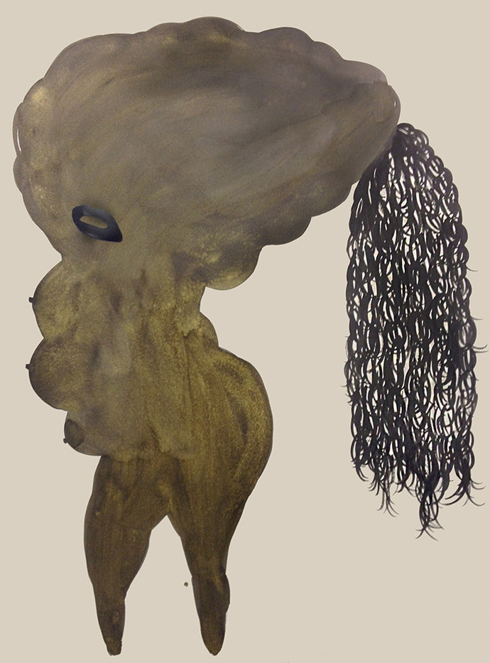 Shoshanna Weinberger | Banana Dancer | 2014 | Gouach and Ink on Paper | 76 x 56.5 cm