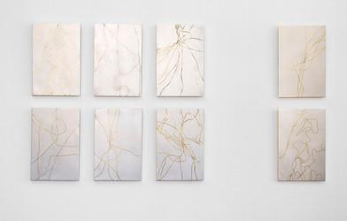 Giovanni Ozzola | Cicatrici verso se stessi | 2015 | Aluminium, Copper and Bronze | 17 x 21 cm Each