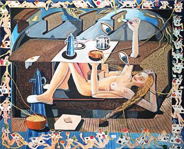 Marlene Steyn | Self raising hour | 2017 | Oil on Canvas | 140 x 170 cm